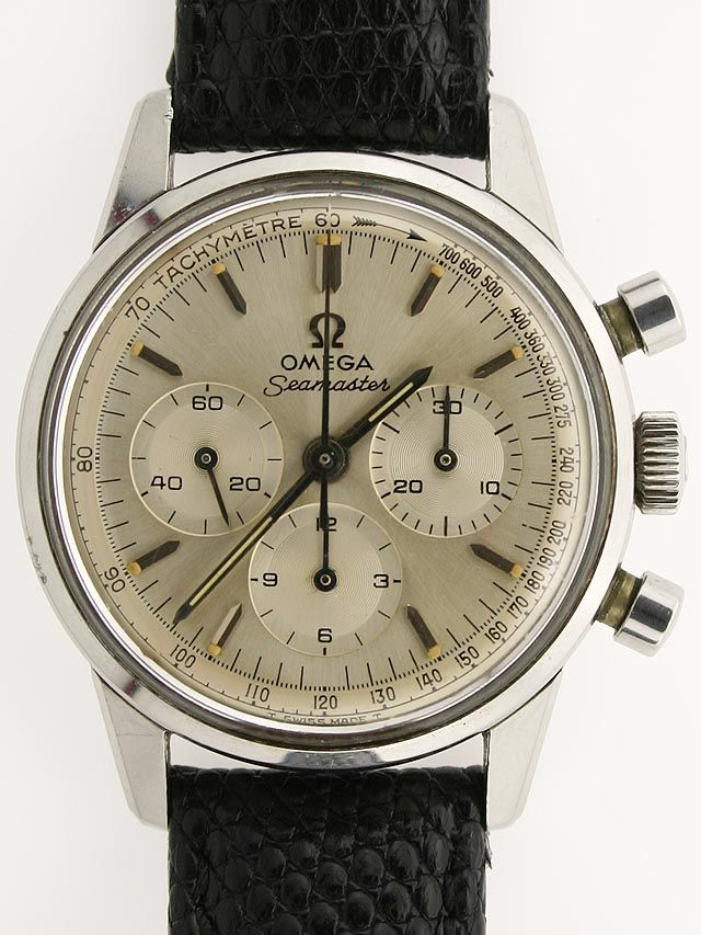 1964 Omega Seamaster chronograph. Vintage Omega watches are a thing of beauty | Jewelry Couture