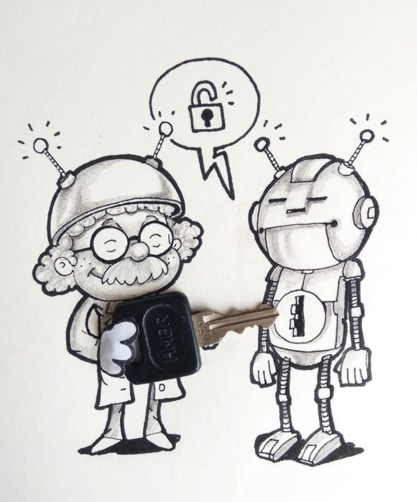 Artists' Adorable Doodles Interact with Real Life Objects - My Modern Met