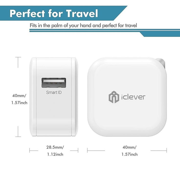Full Speed Iphone X Wall Charger 12W 2.4A -2-Pack Mini Travel Ac Adapter White #MINI