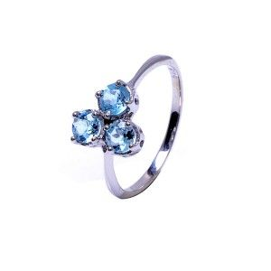 925 Sterling Silver Natural Blue Topaz gemstone Ring(Free Shipping)