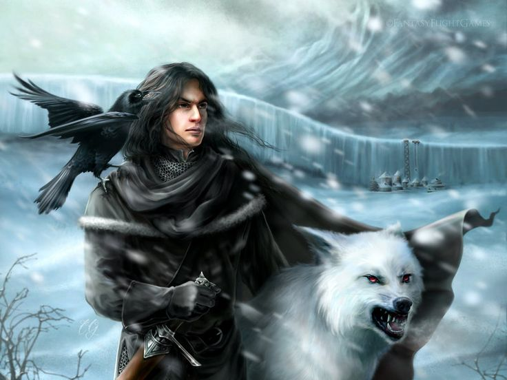 Jon and Ghost  by ~quickreaver