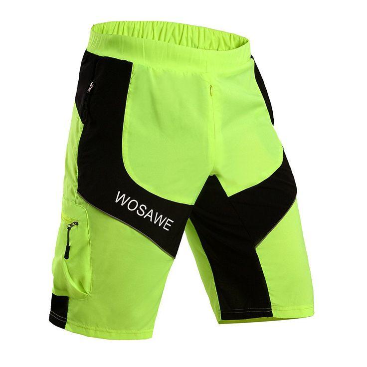 2016 Summer Style Men's Cube Ciclismo Cycling Shorts Mountain Bike Shorts MTB Downhill Reflective Short Leisure Shorts S-XXL