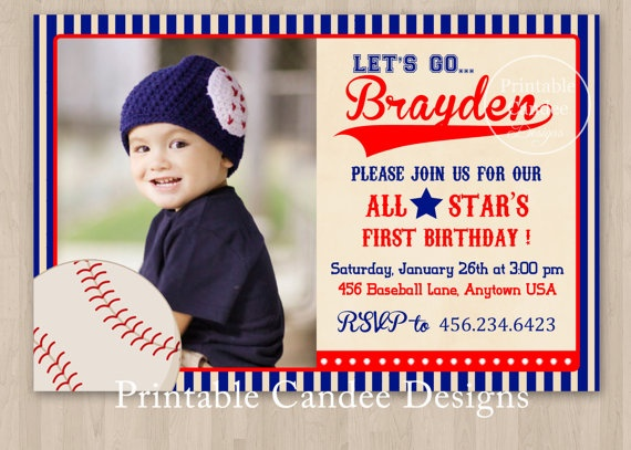 24 best Jonahs First Birthday images – Baseball First Birthday Invitations