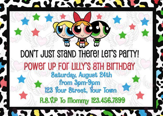 Powerpuff girls party invitations, nude asian girl alone