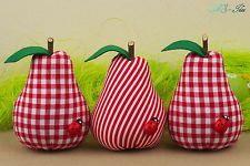 Birne Äpfel Tilda Baumwolle Nostalgie Shabby Landhaus Sommer Easter Handarbeit