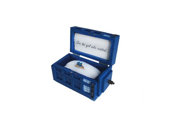 Miniature Doctor Who Tardis Engagement Ring Box on Etsy, $35.00-----/ This is how I want to be proposed to