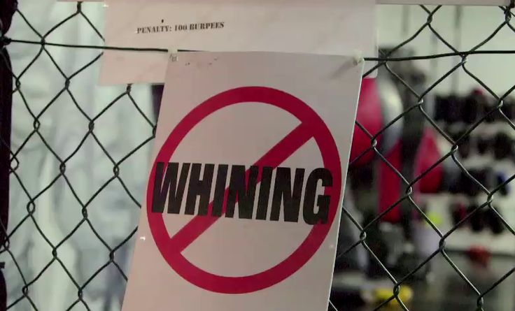 """What is the first rule of EFC fighting?   We don't know for sure, but this """"No Whining!"""" sign greeted Lunga Shabalala as he entered the ring with Garreth 'Soldier Boy' McLellan. #ManCaveSA"""