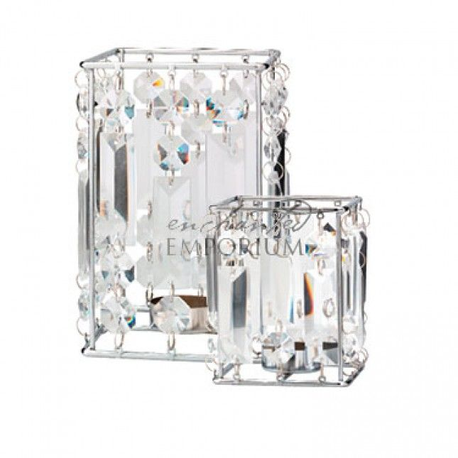 Square Crystal Drop Tealight Holders, Enchanted Emporium