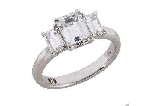 "Emerald cut diamond "" Florence emerald design  available at Renato Melbourne.  2.36 Carats twd. $17,280.00"