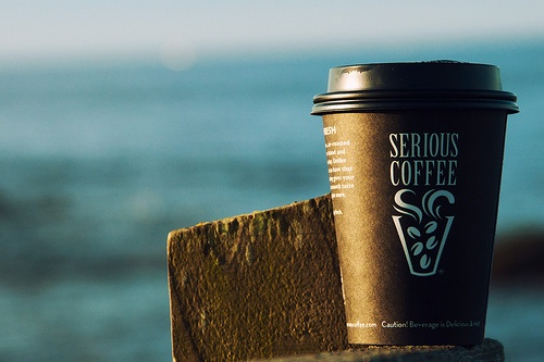 Serious Coffee!  Nothing better than a great coffee, an beautiful sunrise and a warm day.