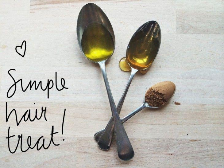 DIY Autumn Cinnamon, Honey & Olive Oil Hair Mask