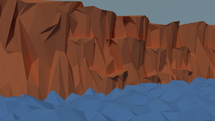 LowPoly Cliff , Mukul Negi on ArtStation at https://www.artstation.com/artwork/JDzQR