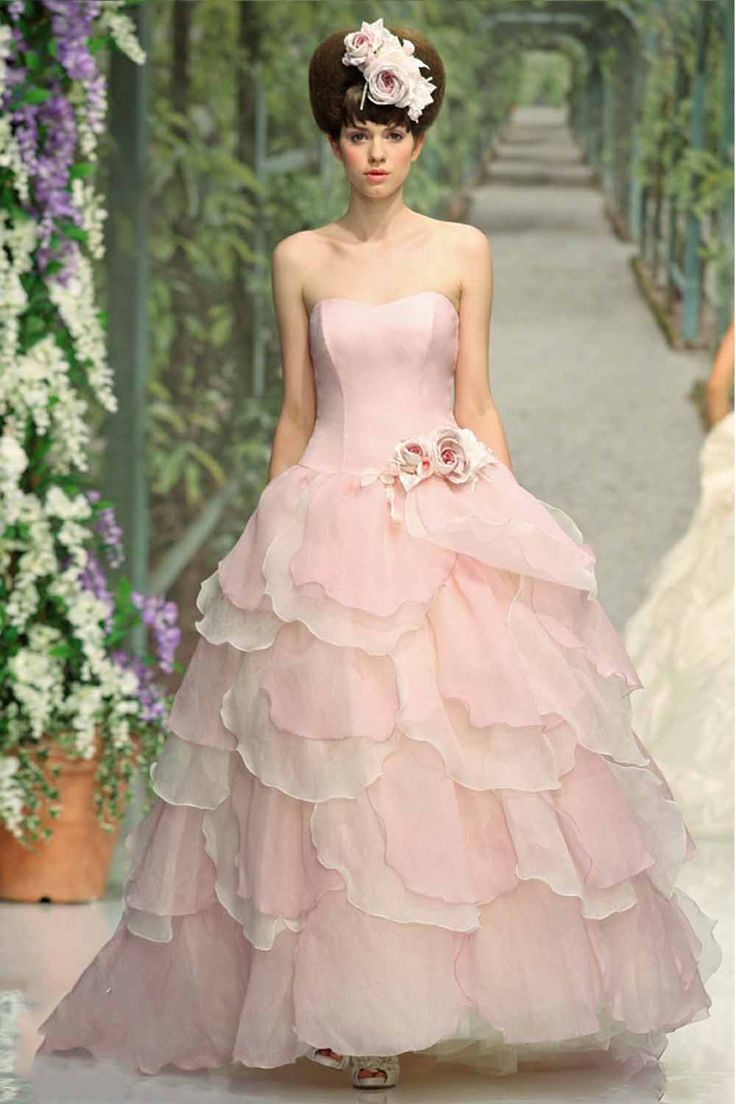 80 best Pink & Peach Wedding Dresses images on Pinterest | Dream ...