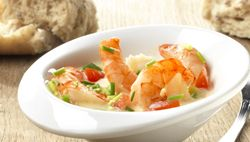Scampi's in kleurig kokoksausje - Recept » Colruyt Culinair