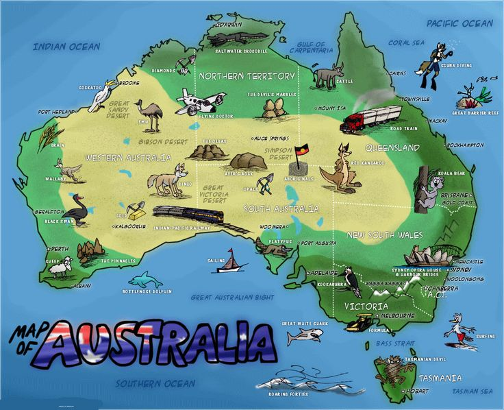 7 best Australia images on Pinterest Maps Illustrated maps and