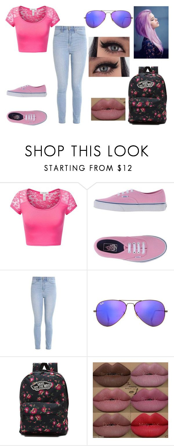 """""""Random #172"""" by derp-remix on Polyvore featuring J.TOMSON, Vans, Hollister Co., Ray-Ban and Kylie Cosmetics"""