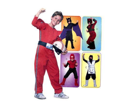 Childs Costume Boys Ninja Batman Wolverine Super Hero Dress Up Halloween Cosplay Costume Sewing Pattern McCalls 4951 Boys Size 7 8 10 12 14 by PrettyPatternShop