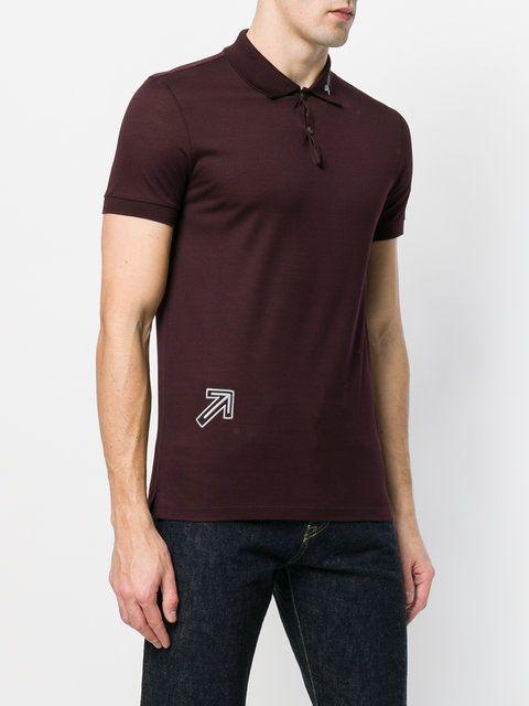 Lanvin arrow embroidered polo shirt