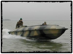 Bankes Boats Goliath 21 Open Water Duck Hunting Boat