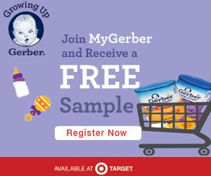 Get two FREE Baby Formula Samples from MyGerber! (+ a $5 formula coupon to use at Target!)