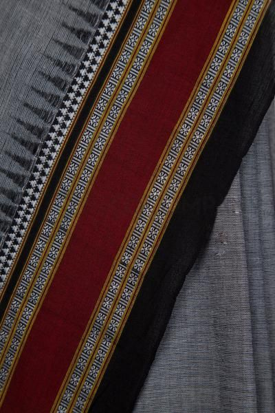 Grey Solapuri Saree