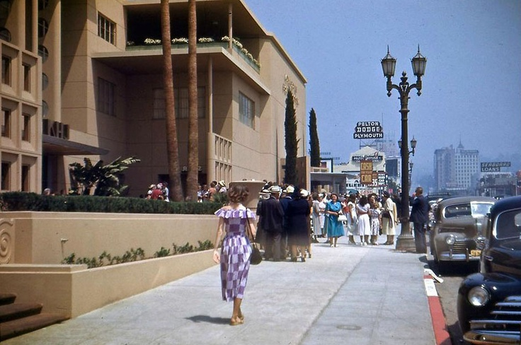 Mutual Don Lee Broadcasting System (KHJ) Building, 1313 Vine Street, now the Academy Linwood Dunn Theater (ca. 1950): Vintage Los, Hollywood S Oldest, Vines, Hollywood Vintage, Los Angeles, 1313 Vine, Science