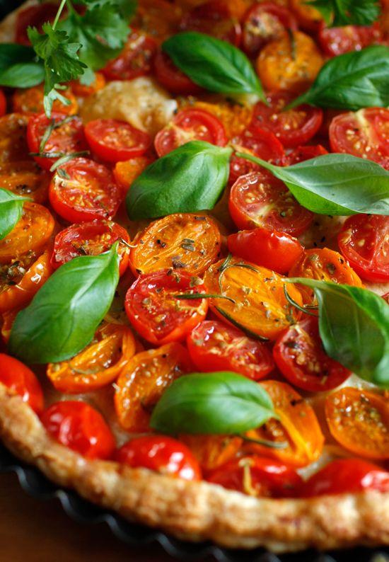 Tarta z pomidorkami
