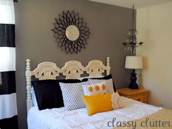 Classy Clutter  Black and Yellow Master Bedroom Redo73 best Bedroom ideas images on Pinterest   Bedroom ideas  Guest  . Grey Black And Yellow Bedroom Ideas. Home Design Ideas