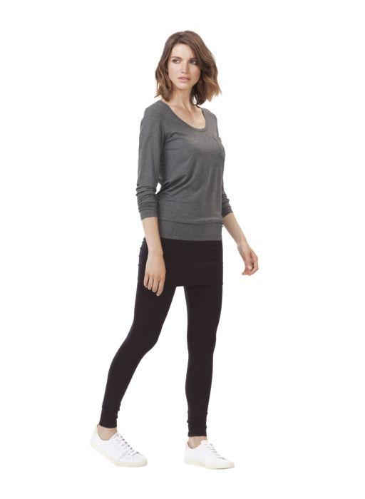Hadleigh Foldover Leggings in Black | BAUKJEN UK
