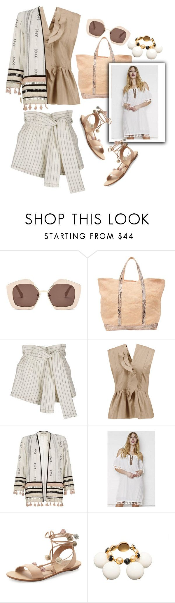 """""""Pom Poms"""" by grinevagh ❤ liked on Polyvore featuring Marni, Vanessa Bruno, 3.1 Phillip Lim, River Island, Liquor n Poker and Loeffler Randall"""