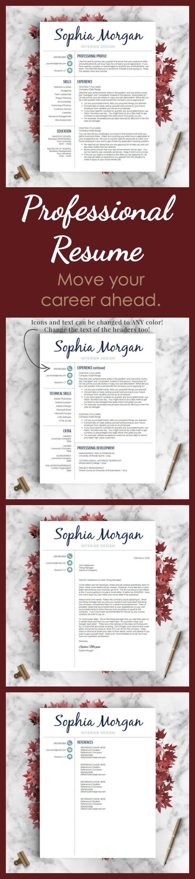 Perfect cv 25 pinterest love this creative professional resume perfect for any design or creative field creative resume template resume for word and pages 1 yelopaper Choice Image
