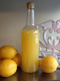 Homemade Mamas: Homemade Limoncello - 1 750 ml bottle of Everclear 8-10 medium size lemons 2 1/2 cups of water 1 3/4 cups of sugar