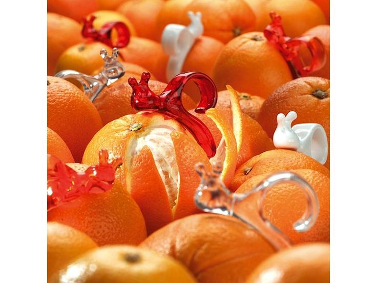 Praktyczna obieraczka do pomarańczy Emma P. niemieckiej marki Koziol. Produkt został wykonany z tworzywa sztucznego. Produkt jest bardzo łatwy w obsłudze - wystarczy nałożyć go na palec, po czym należy podzielić skórkę i oddzielić ją od miąższu.