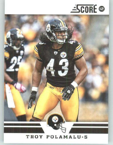 2012 Score #197 Troy Polamalu - Pittsburgh Steelers (Football Cards) by Score…
