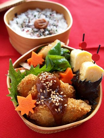 Japanese Miso Katsu (Pork Cutlet) Bento 味噌カツ弁当
