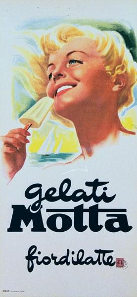 Vintage Italian Posters ~ Mario Rossi, Gelati Motta #Vintage #Italian #Posters