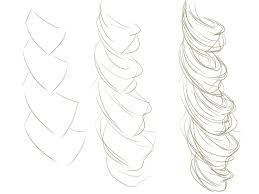 Image result for how to draw realistic curly hair step by step