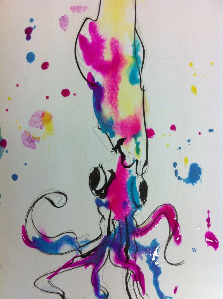 """""""Mr Squid"""" - inks"""