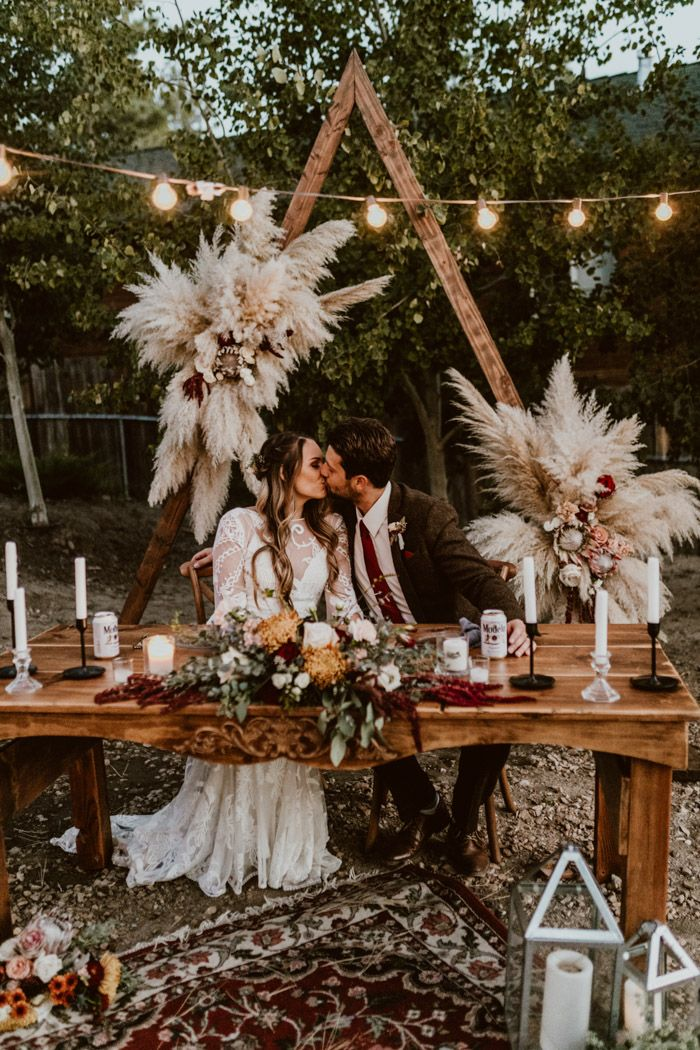 Boho Big Bear Lake Wedding At Noon Lodge At Mallard Bay Junebug Weddings Bohemian Wedding Flowers Wedding Decorations Lake Wedding