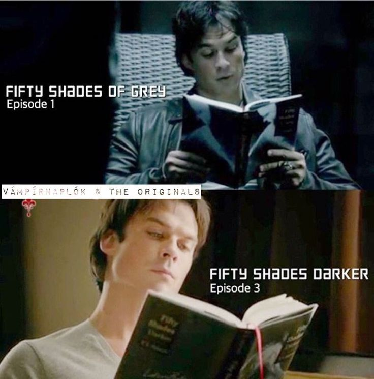The Vampire Diaries season 8 episode 1 and episode 3 | Damon read The Fifty Shades of Grey