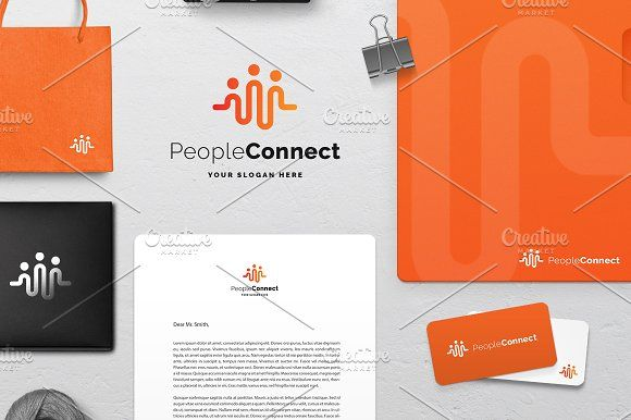 People Connect Logo by Creathrive on @creativemarket