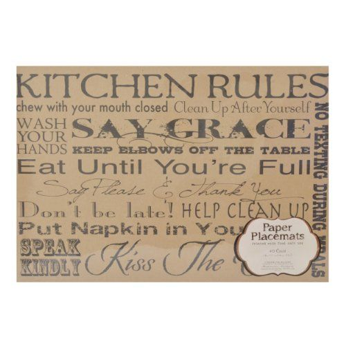 Sheffield Home Protective Decorative Paper Placemats
