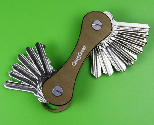 Key Holder Keysmart Hard Oxide Aluminum Key Chain Clip Organizer
