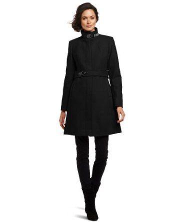 "Via Spiga Women's ""maria"" Stand Collar Wool Coat, Black, 6 Via Spiga. $119.97"