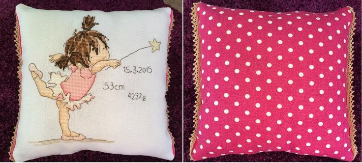 "A needle and some thread: ""Wish Upon a Star"" by Lili of the Valley. Finished as a small cushion."
