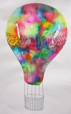 Hot Air Balloons- bleeding tissue paper, 3