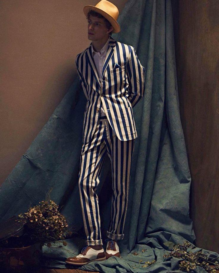 Stripes slim fit suit by Mitchumm Industries