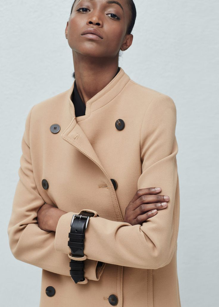 Double-breasted coat - Coats for Women | MANGO USA