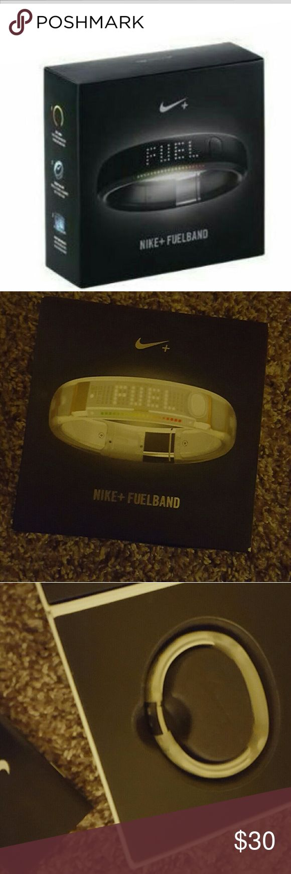 Nike Fuel Band Unisex Nike Fuel Band Size M- this is for the white version. All these included in original packaging except USB cord....it's a standard USB charger, I am probably using it to charge something else now haha ??. You can use another one you likely have lying around or run out and get one for a few bucks. Nike Accessories Watches