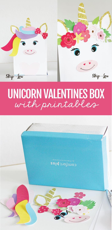 Magical Unicorn Valentine Box with FREE printables!